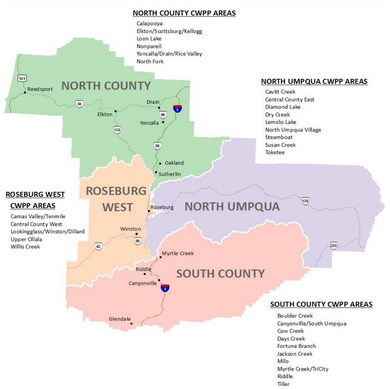 Douglas County Wildfire Plans Map